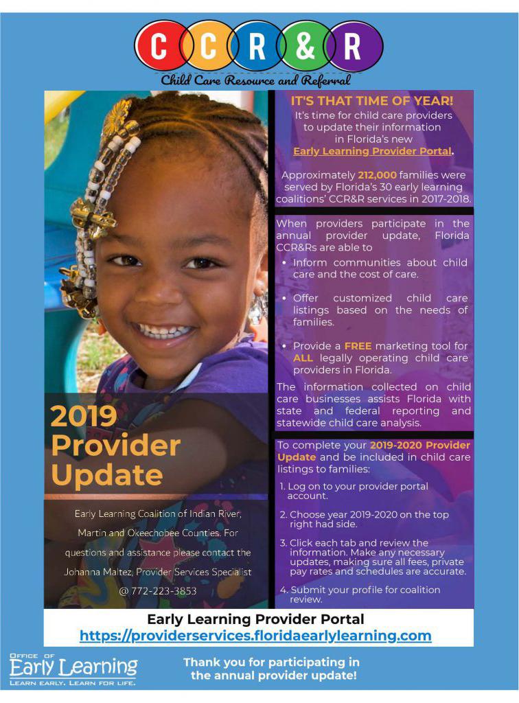 CCR&R 2019 Provider Update