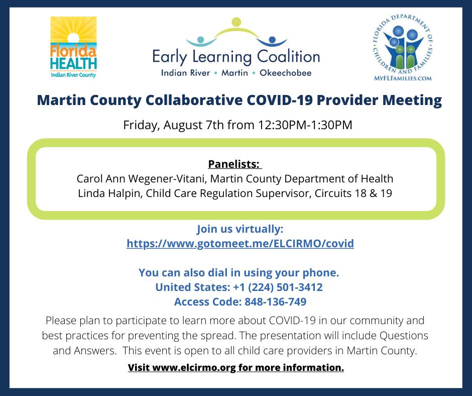Martin County Collaborative COVID-19 Provider Meeting